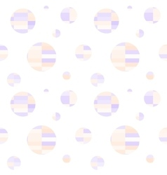 Polka dot geometric seamless pattern vector