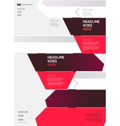 Modern infographic elements on light background vector