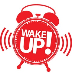 Wake up alarm clock icon vector