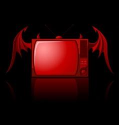 evil retro TV vector image