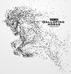 Galloping horseparticles vector