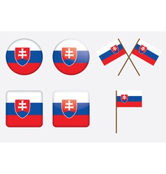 badges with flag of Slovakia vector image