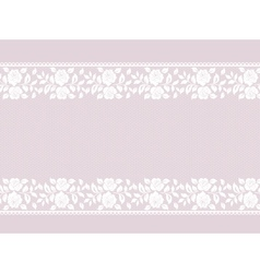 Lace border on pink vector