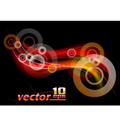 abstract on the black vector image vector image