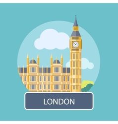 Big Ben and Westminster Bridge London UK vector image