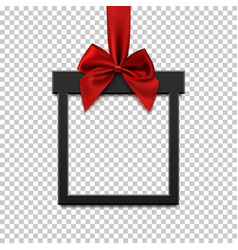 blank black square banner in form of christmas vector image vector image