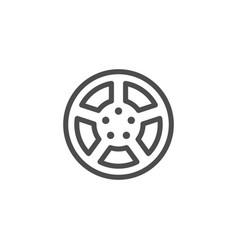 car rims line icon vector image vector image