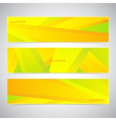 Collection of the 3 colorful web banners Can be vector image vector image