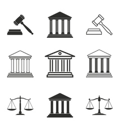 Court icon set vector image