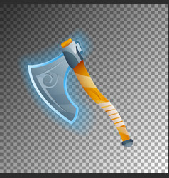 Fantasy warrior axe isolated game element vector