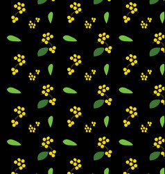 flower and branch pattern vector image vector image