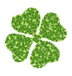 green four-leaf clover vector image vector image