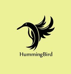 Humming bird logo vector