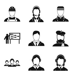 jack icons set simple style vector image vector image