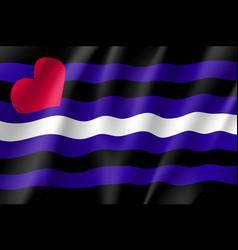 leather pride emblem vector image vector image