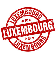 Luxembourg red round grunge stamp vector
