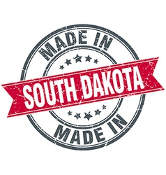 Made in south dakota red round vintage stamp vector