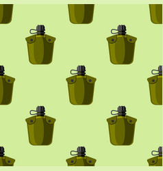 military or outdoor travel water flask vector image vector image