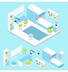 Modern children room composition vector