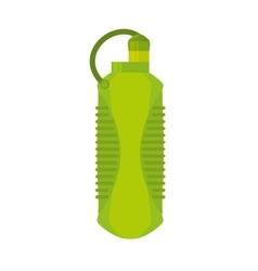 Plastic bottle water portable gym element vector