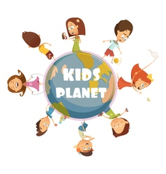 Playing kids concept vector