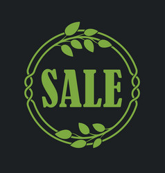 Sale label price tag banner badge in flora design vector