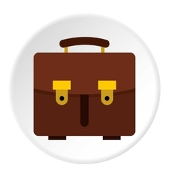 School bag icon flat style vector image