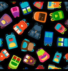 schoolbags seamless pattern vector image