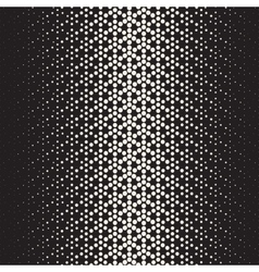 Seamless Black and White Circles Halftone vector image vector image