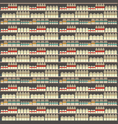 seamless pattern of dairy department milk shelf vector image vector image