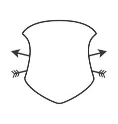 shield frame security label design vector image vector image