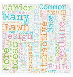 Some of the most common landscape design features vector