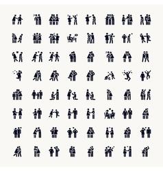 Stick Figure Love vector image vector image