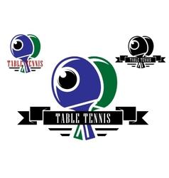 Table tennis emblems and symbols vector