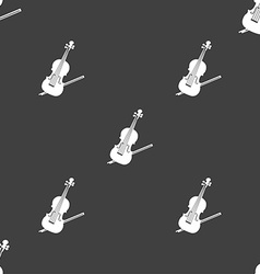 Violin icon sign Seamless pattern on a gray vector image