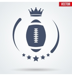 American football club badge and label vector