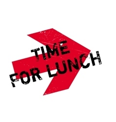 Time for lunch stamp vector