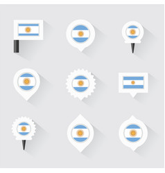 argentina flag and pins for infographic and map vector image