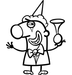 clown cartoon coloring page vector image