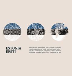 Estonia flag design concept vector