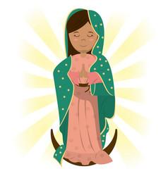 Virgin mary catholic prayer bless image vector