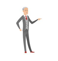 Senior caucasian furious businessman screaming vector