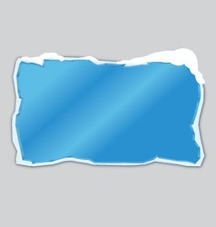 blue ice frame with snow vector image