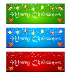 Merry Christmas banner on different backgrounds vector image