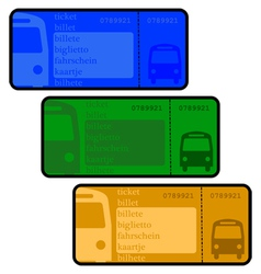 Bus tickets vector
