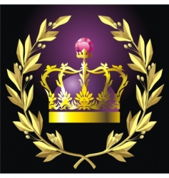 Laurel wreath and crown vector