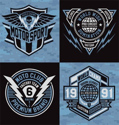 Sports emblem graphics vector