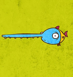 Sword fish cartoon vector