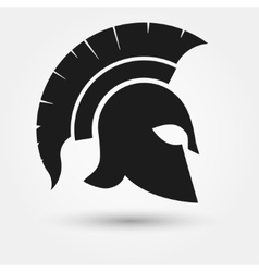 Spartan warrior helmet vector