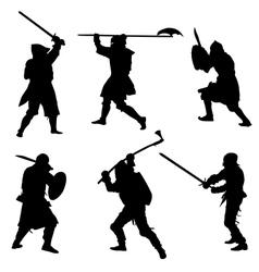 Ancient warriors vector image